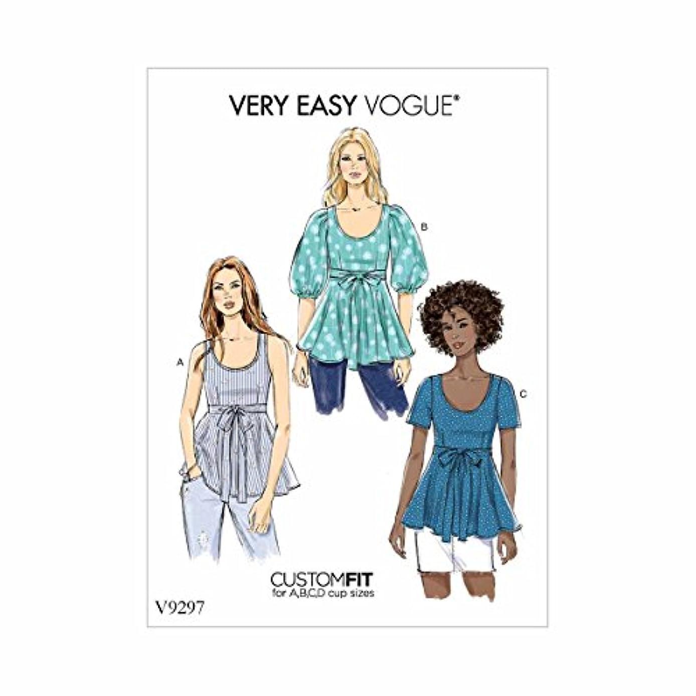 Vogue Patterns V9297OSZ Misses' Top, red
