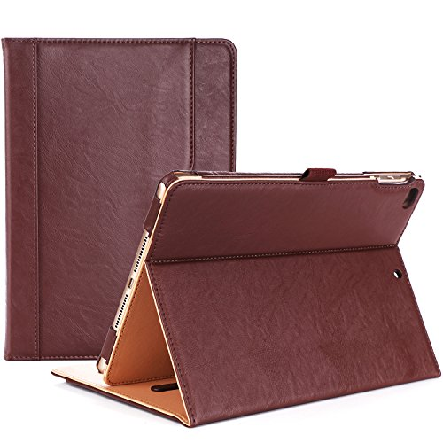 ProCase iPad 9.7 Case 2018/2017 iPad Case - Stand Folio Cover Case for Apple iPad 9.7 inch, Also Fit iPad Air 2 / iPad Air -Brown