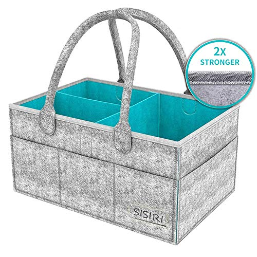 Werded Baby Diaper Caddy Organizer, Portable Large Diaper Caddy Tote...