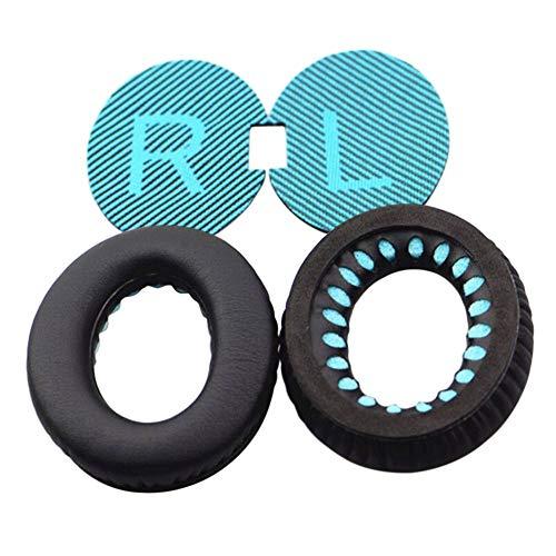 Ansemen Almohadillas de Reemplazo Cojines para Bose QuietComfort 35/QC 35II/QC 25/QC 15/QC 2/SoundTrue/SoundTrue II/SoundLink AE/AE2/AE2W - Proteccion Orejeras (Azul Oreja Paño w/RL)