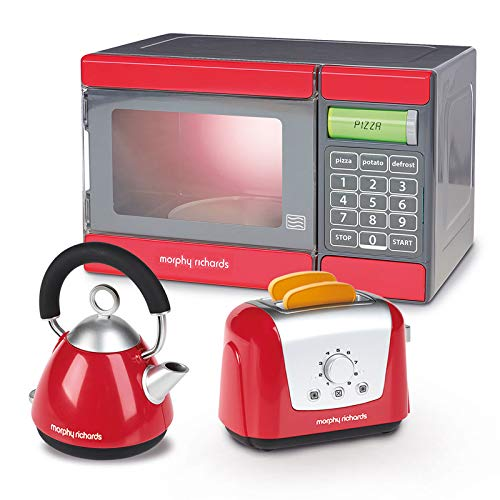 Spielzeug Toaster Wasserkocher Mikrowelle Morphy Richards Toast Teekocher Kinder Küche Ofen Küchen Zubehör Spielküche Rot Toast Automat 2 Toast Scheiben 3x Haushalt Geräte Kochset Frühstücksset Micro