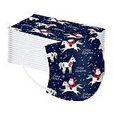 10/50 Stück Mundschutz Einweg, Weihnachten Bedruckte Muster Maske Mund und Nasenschutz Atmungsaktiv Stoffmaske Ohrschlaufen Bedeckung Erwachsene Halstuch Face Cover Mouth cover (J-b)
