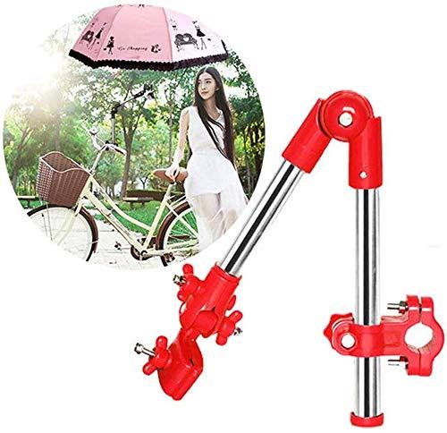 XJZKA Sombrilla Soporte para sombrilla, Soporte para Bicicleta, Soporte para sombrilla Marco de fijación Conector de Silla de Ruedas Cochecito de bebé, para Motocicleta Bicicleta eléctri