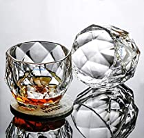 Syanka Glass Whiskey Glasses Set of 6, Clear, 350 ml, Whisky Glass Bowl