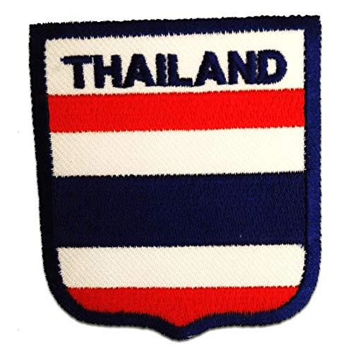 Thailand Flagge Fahne - Aufnäher, Bügelbild, Aufbügler, Applikationen, Patches, Flicken, zum aufbügeln, Größe: 6,5 x 7,3 cm