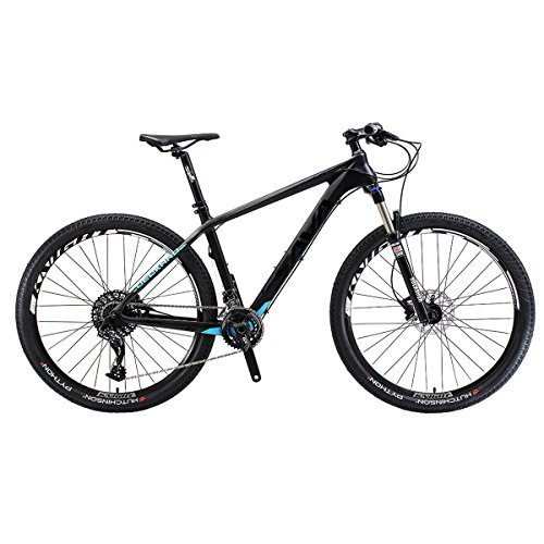Amazing Deal Carbon 29″ montain Bicycle 22 Speed (Black Blue, 17″)