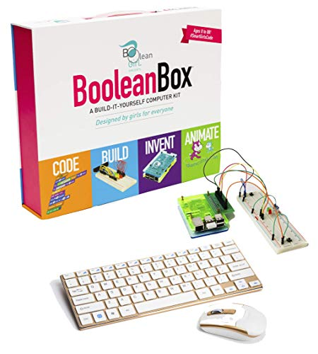 Boolean Box Build a Computer Science Kit for Kids | Includes Electronics, Coding, Animation and Lessons in Scratch, Minecraft, Python | Ages 8 and Up