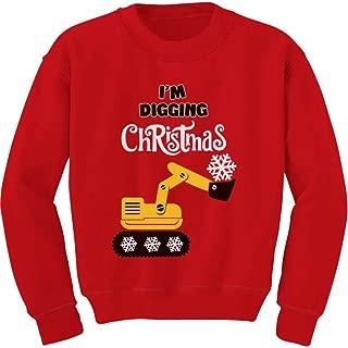Tstars I'm Digging Christmas Kids Gift Snow Plough Tractor Toddler/Kids Sweatshirt