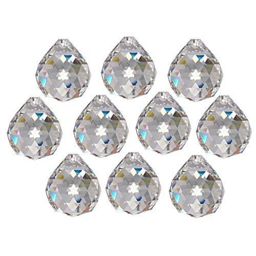 10x Regenbogenkristall Kugel Ø 20mm Crystal 30% PbO ~ Kronleuchter Lüster Feng Shui