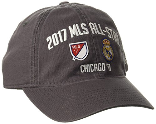 adidas Adjustable Slouch Hat MLS All Star Dueling-Gorro Holgado Ajustable, Gris, Talla única (Pack de 12) para Hombre
