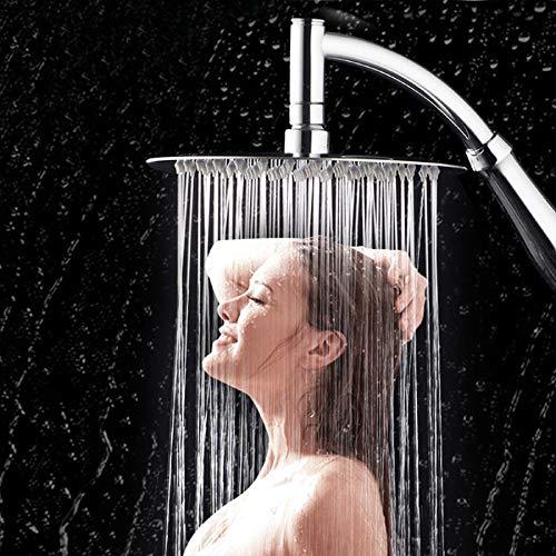 m·kvfa Shower Head, High Turbo Pressure Showerhead Bathroom Hand Large Rainfall Water Saving Filter, Awesome Shower Experience