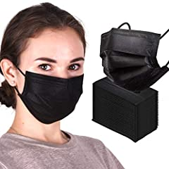 【Fulfillment By Amazon】: Debang has high-quality disposable black face mask, you can get it fast and do not need to wait for a long time because it is stocked in Amazon warehouse and fulfilled by Amazon. 【3 Protective Layers】: This disposable black f...