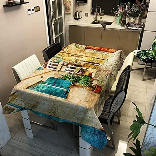 Imagen De Paisaje Poliéster Mantel Impermeable Comedor Sala De Estar Decoración Mantel Mesa De Café Mantel Cocina Mantel Interior Y Exterior Jardín Decoración 140x180cm