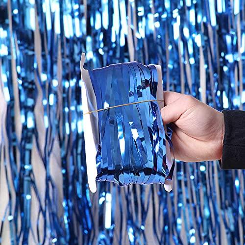 FOREVERH3 Cortina Tiras Metalicas Tipo Telón Decorativa (2m x 1m) para Puertas o Paredes Selección de Color Ideal para Decorar...