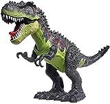 CifToys Tyrannosaurus Rex Dinosaur Walking Dinosaur Toys Kids Toy Realistic Trex Dinosaur Toy Walking Moving Glowing Dino Figure (Green)