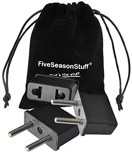 FiveSeasonStuff ® 3 x di tipo A spina adattatore elettrico a elettrodomestici in Italia, valore 3 Pezzo adattatori per collo.