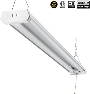 Linkable LED Shop Light for Garage, 42W 4800lm 4FT, 5000K Daylight White, with Pull Chain (ON/Off) cETLus Listed, 5-Year-Warranty, 5000K (1PK) M
