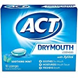 Best ACT Dry Cough Medicines - ACT Dry Mouth Soothing Mint Lozenges 18 ea Review