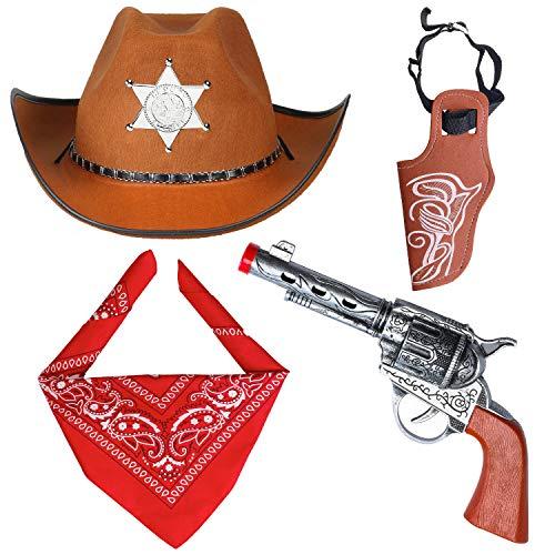 Haichen Accesorios Disfraces Vaquero Sombrero Vaquero