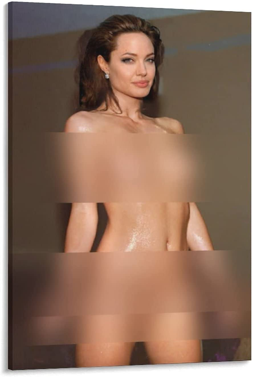 Oakland Mall Angelina Jolie Sexy Nude service Porn Poster Art Canvas Deco Wall