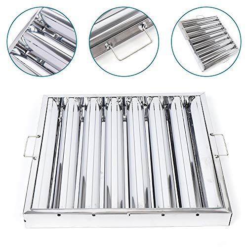 Vlambeschermingsfilter voor afzuigkap HaroldDol 49 x 49 x 4,8 cm vetfilter ventilatiefilter filter