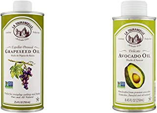 La Tourangelle Grapeseed Oil 25.4 Fl Oz, All-Natural, Artisanal, Great for Cooking & Avocado Oil 8.45 Fl Oz, All-Natural, ...