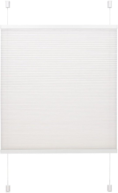Wabenplissee Easyfix Gre  80 cm W x 130 cm L, Farbe  Wei