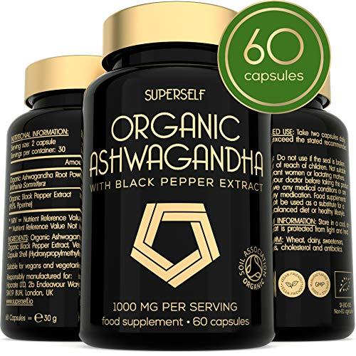 Organische Ashwagandha met zwarte peper extract - 60 capsules