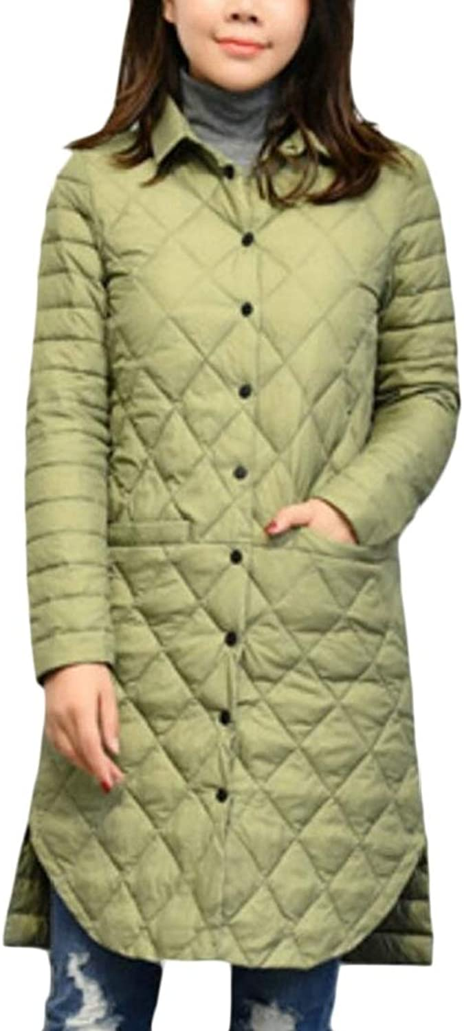 Alion Women's Casual Slim Fit Lightweight MidLength Down Jackets Coat Overcoat