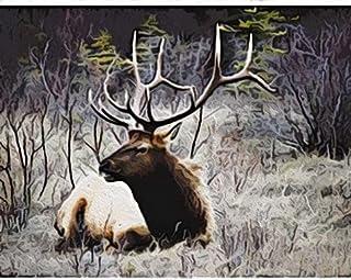 Milu gräsmarksträd Painting by Numbers Måla efter Nummer Gör det Själv Oljemålning Kits 40X50CM för Vuxna Barn Diy Oil Nyb...