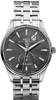 Ball - Reloj Automático Ball Trainmaster Kelvin, Gris, COSC, Grados Centígrados