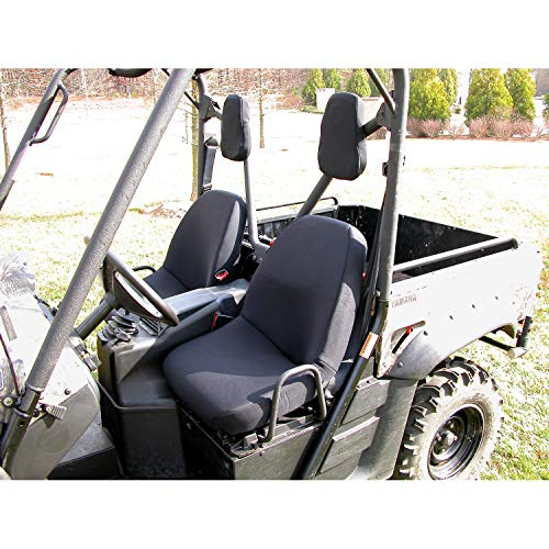 Seat Cover Kit, Fabric, Black; Yamaha UTV - Rugged Ridge 63240.01