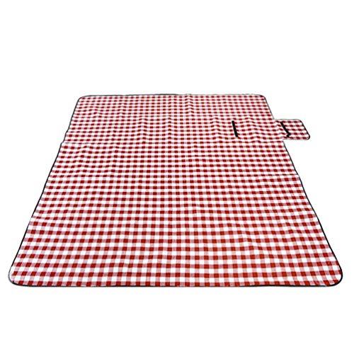 Sentaoa Picknickdecke Outdoor Decke für Camping Picknick Wasserdicht Oxford Picknick Matte Wärmeisolier Stranddecke 200 * 200cm