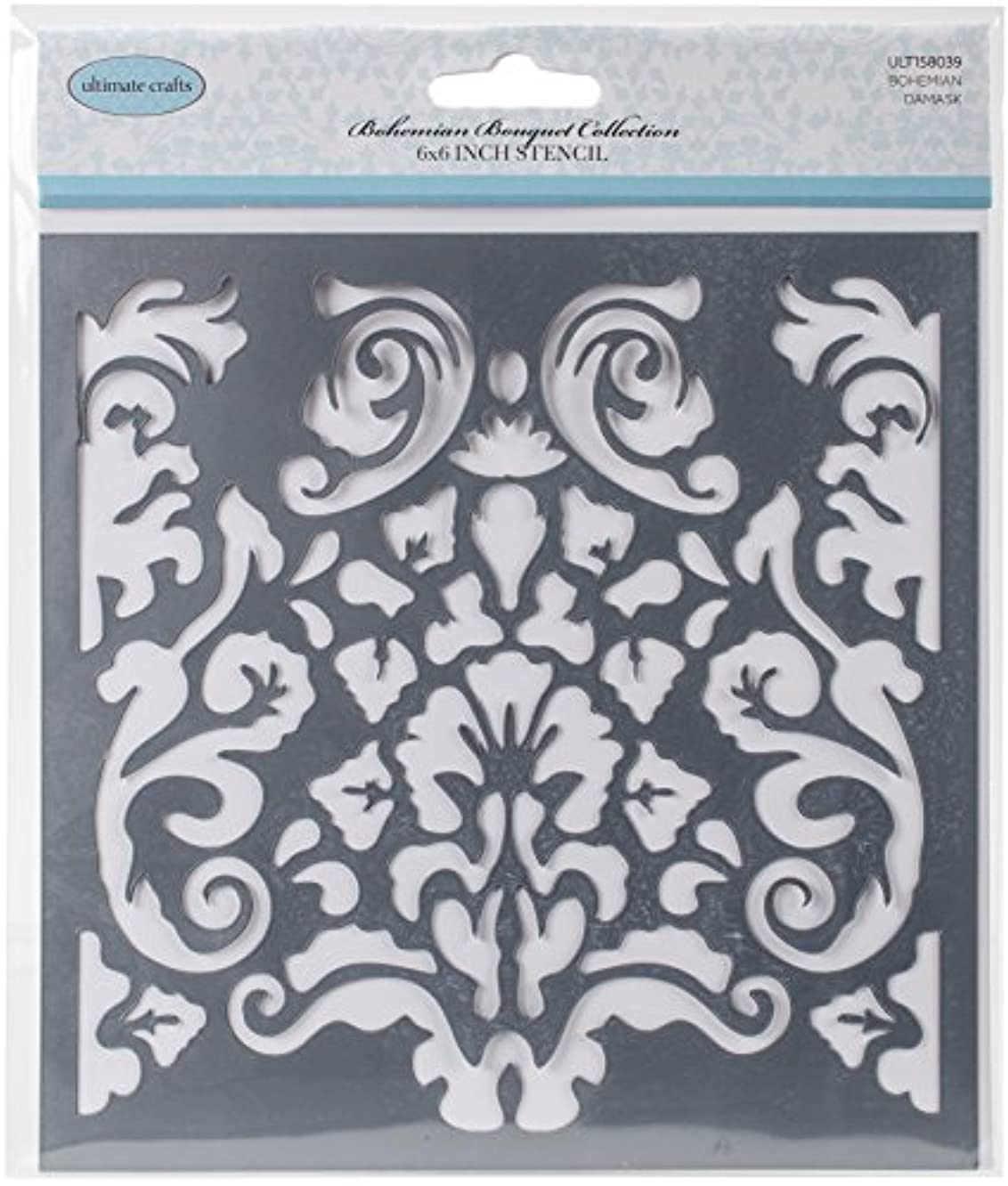Artdeco Creations Damask Ultimate Crafts Bohemian Bouquet Stencil 6