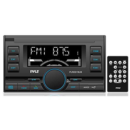 Pyle PLRDD19UB Bluetooth Digital Receiver with USB/SD Card Readers, AM/FM Radio, AUX Input, Remote Control, Double-DIN