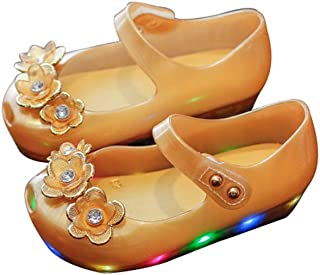 BY0NE Kids Summer Cute Flower Princess Sandals Jelly Shoes Girl Gift Toddler