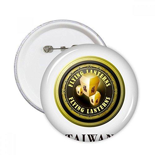 DIYthinker Logo Taiwan Vliegende Lantaarns Ronde pinnen Badge Knop Kleding Decoratie Gift 5 stks XL Multi kleuren