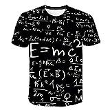 Camiseta Estampada En 3D - Camiseta De Moda Fresca Para Hombres Y Mujeres Fórmula Impresión Camiseta 3D Tops Verano Camisetas De Manga Corta Camisetas Masculinas Camisetas Casuales Pullover Tees