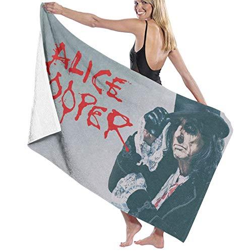 Alice-Coopers Toalla de playa de microfibra grande de secado rápido, sin arena, para viajes, al aire libre, piscina, deporte, hotel, gimnasio y spa