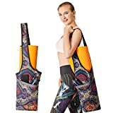 PERFEKT Yoga Mat Bag Carrier with Free Yoga Fitness Band, Large Size Pocket and Zipper Pocket, Gym Bag, Fit Most Size Mats, Multi-Functional Usage (Ancient Vibes)