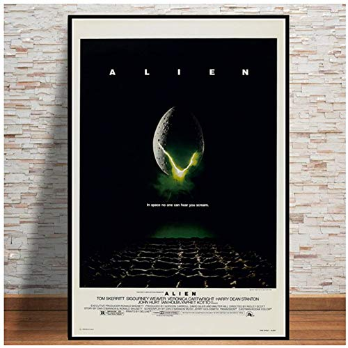 Poster ALIEN 1979 Movie Sci Fi Horror Movie Gift Vintage Painting Canvas Art Wall Pictures for Living Room Home Decor-50x70cm Sin marco