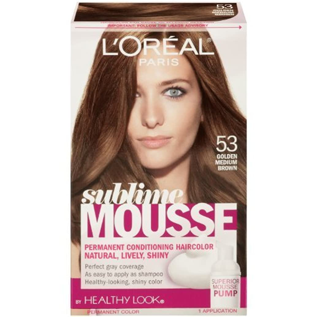 ベックスピルコンテストL'Oreal Paris Sublime Mousse by Healthy Look Hair Color, 53 Golden Medium Brown by SUBLIME MOUSSE [並行輸入品]