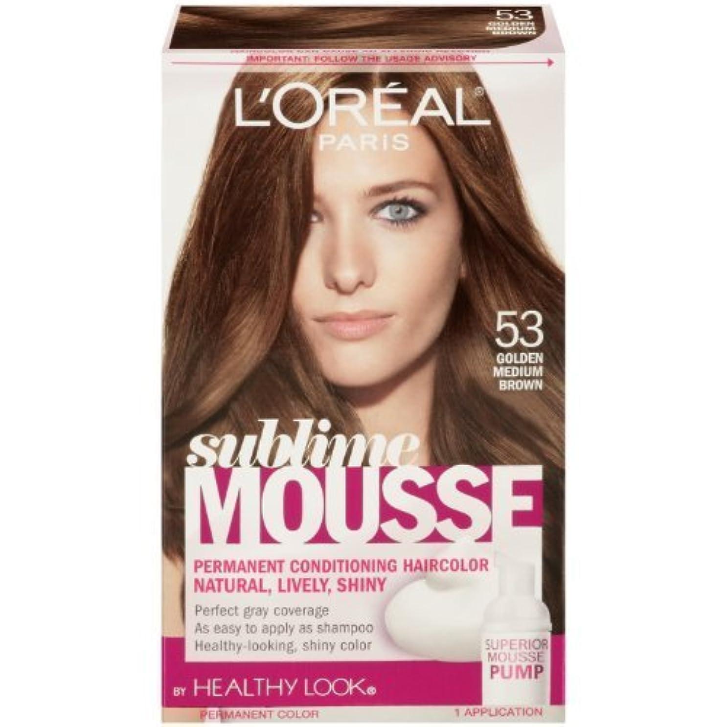 評判カンガルーポルノL'Oreal Paris Sublime Mousse by Healthy Look Hair Color, 53 Golden Medium Brown by SUBLIME MOUSSE [並行輸入品]