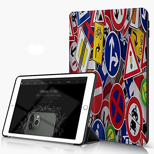 She Charm Carcasa para iPad 10.2 Inch, iPad Air 7.ª Generación,Superposición de Varios Indicadores Viales,Incluye Soporte magnético y Funda para Dormir/Despertar