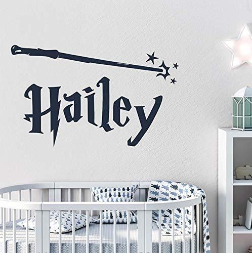 Harry Potter Style gepersonaliseerde naam vinyl muurtattoo belettering muursticker voor kinderkamer kinderkamer Art Decor 85 * 48cm