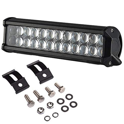 Willpower 4D Lente 12 pulgadas 72W Ojos de pez Barra de luz LED 12V 24V Haz combinado Foco LED Lámpara de trabajo para camión todo terreno Coche Automóvil Tractor Barco 4WD 4x4 SUV ATV