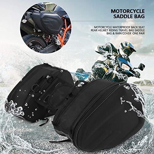 Alforjas laterales moto, maletas laterales moto, juego de 2 maletas laterales moto, capacidad máxima unilateral: 29 l