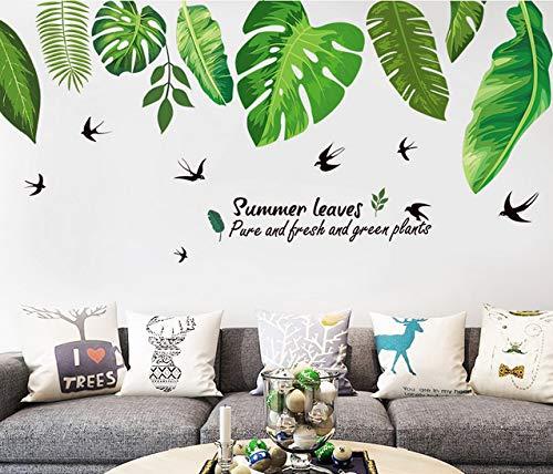 Adesivo Murale Pianta Verde Grande Immagine Decalcomania Arte Murale Adolescente Per Casa Camere Da...