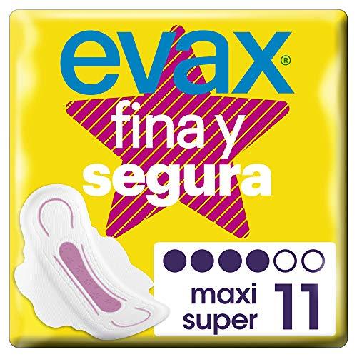 Evax Fina y Segura Super/Maxi Compresas Con Alas - 11 Unidades