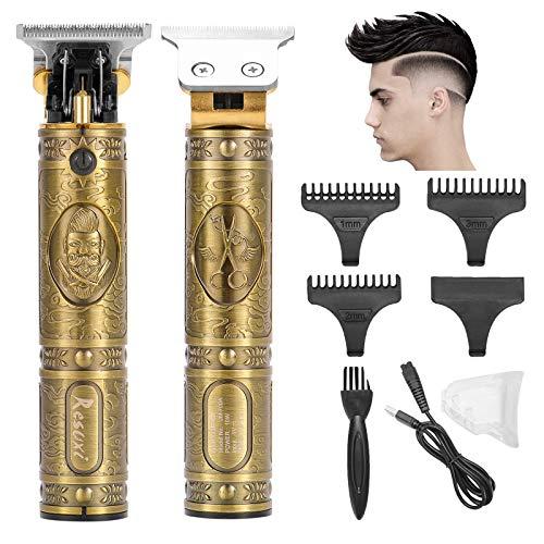 ZITFRI Haarschneider Herren elektrisch Haarschneidemaschine, USB Hair Trimmer One Blade Ersatzklinge Rasierer Hair Clipper wiederaufladbar schnurlos T-Blade Trimmer Grooming Trimmer mit 4 Kämme